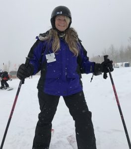 Sue Skiing